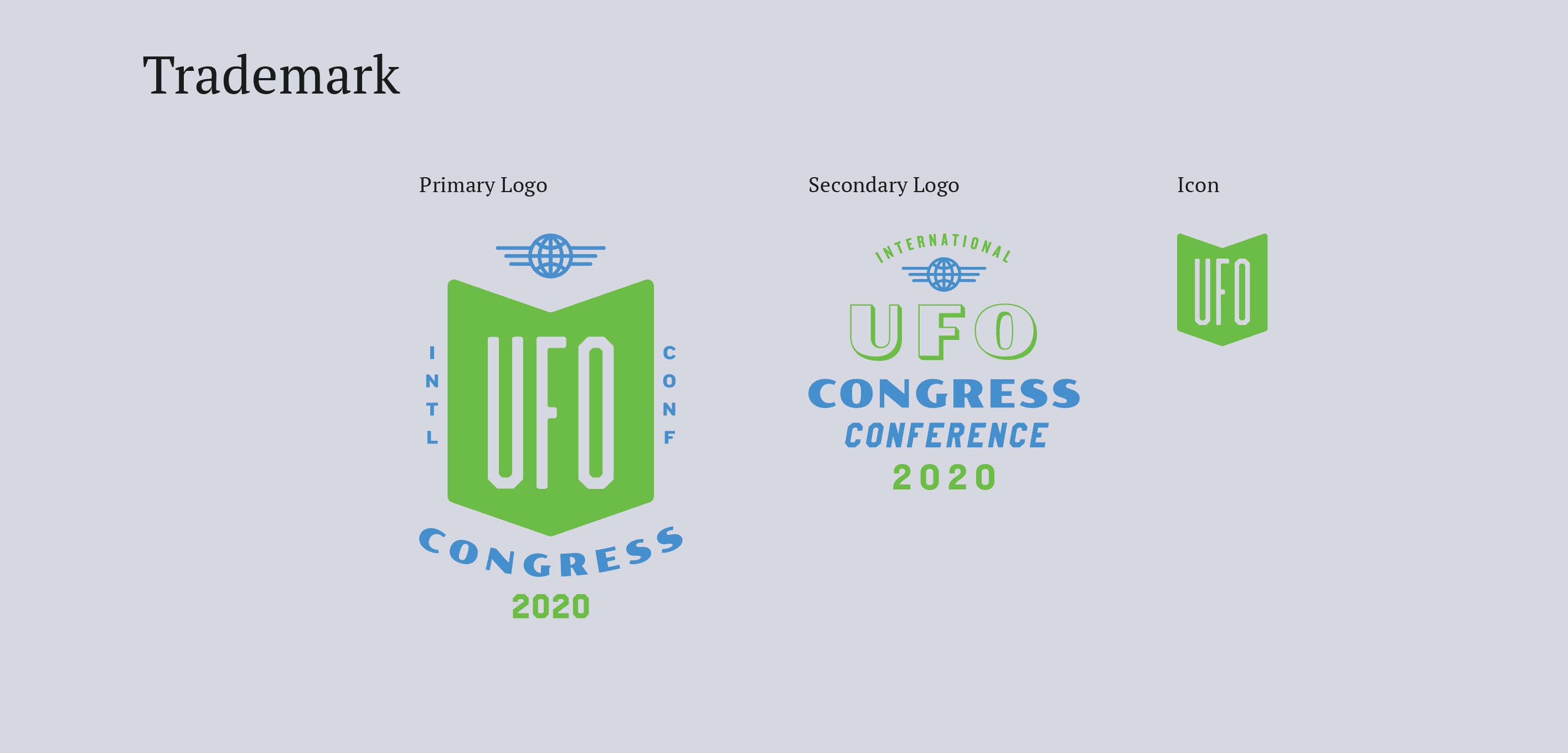 UFO primary, secondary logos and icon