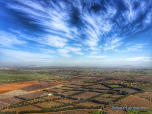 Looking east from Golan Heights, Israel into Syria