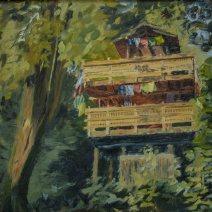 Ridge Garden Treehouse, 16x20, Oil on canvas, $ 600.00