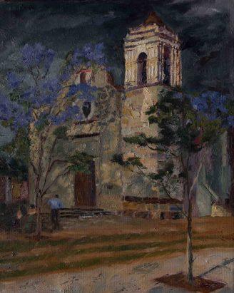 Iglesia Xochimilco, 20x16, Oil on canvas - Sold