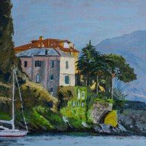 Varenna Villa, 16x20, Oil on linen- $750