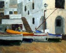 Beach Cafe, 16x20, Oil on canvas - Sold