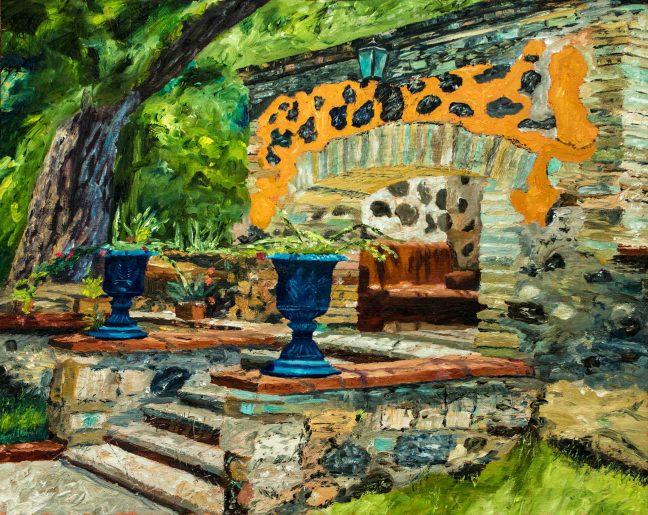 Jardín Mexicano, 16x20, Oil on linen, $840