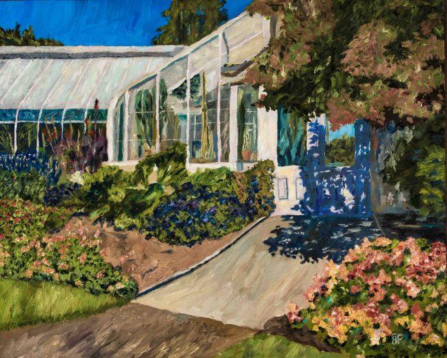 Volunteer Park Conservatory, Oil on linen, 16x20, $800