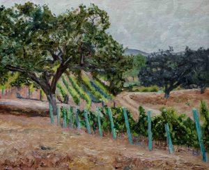 Oaks and Vines, Oil on linen, 16x20, $800