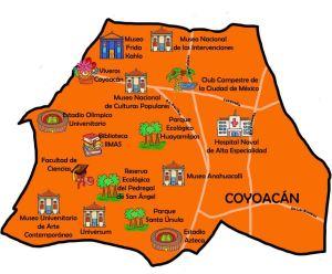 Tourist map of Coyocán