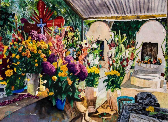 Panteón San Antonino, Watercolor on paper, 22x30, $1,960