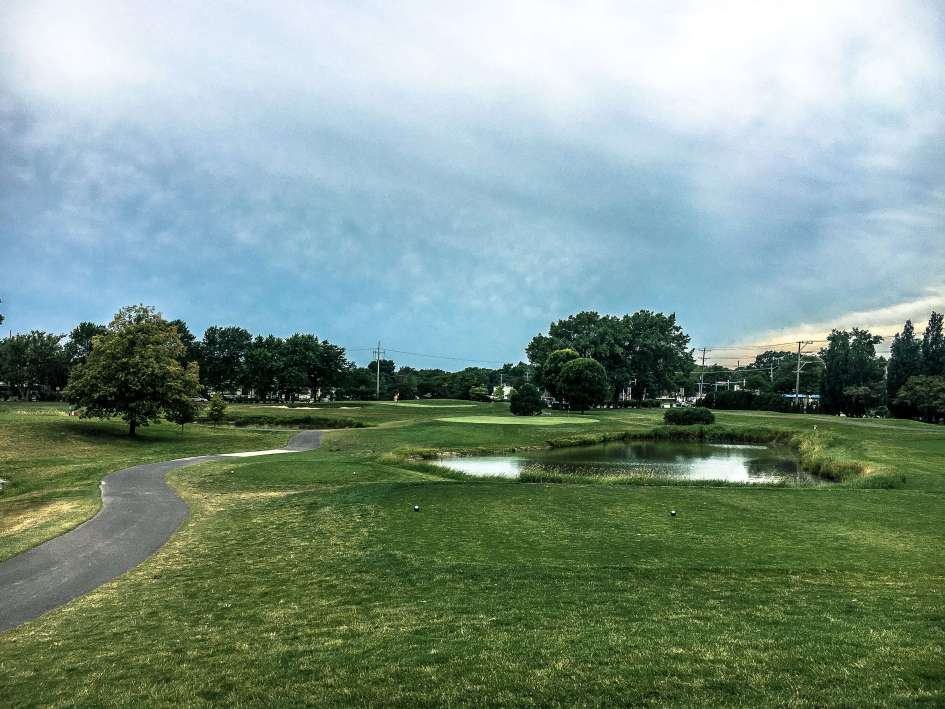 Arlington Lakes Golf Course - Arlington Heights - Old 17 Reversed to new Hole 8 Par 3