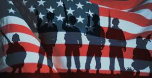 veterans and american flag