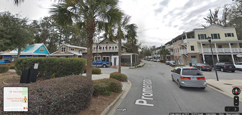 Street View on Promenade St. in Bluffton, South Carolina.