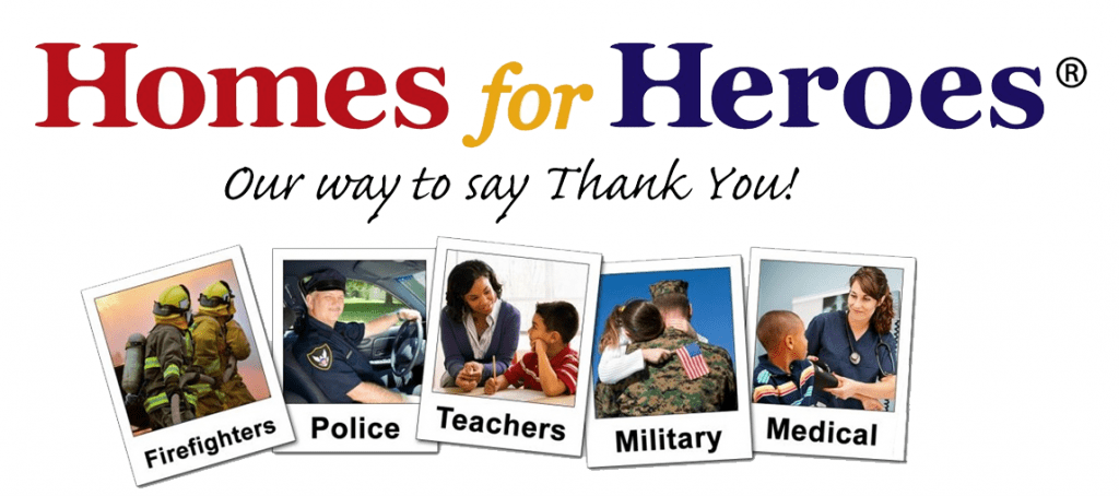 Our way to say thank you to homes for heroes.