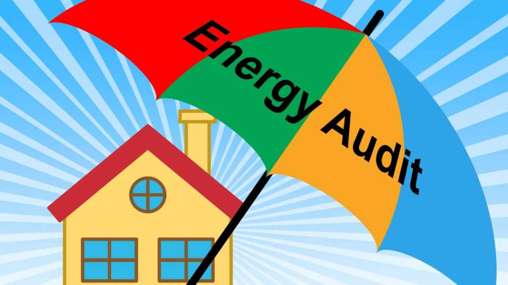 graphic of a home energy assessment or audit