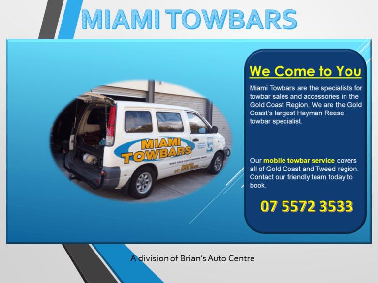 miami towbars mobile service division