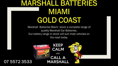 Marshall Car Batteries Miami Gold Coast