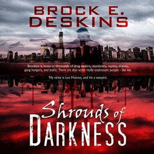 Audiobook: Shrouds of Darkness (Brooklyn Shadows #1) by Brock Deskins (Narrated by Steven Jay Cohen)