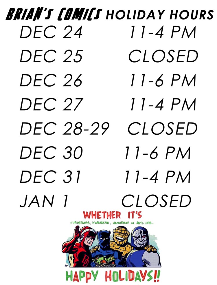HOLIDAY HOURS2015