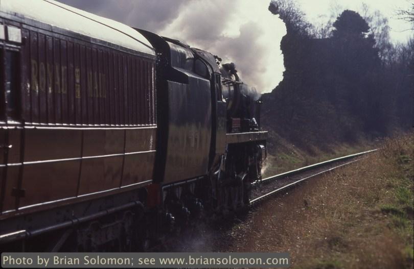 Steam locomotive at work.