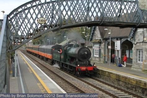 Railway Preservation Society Ireland steam locomotive 461 at Portlaoise
