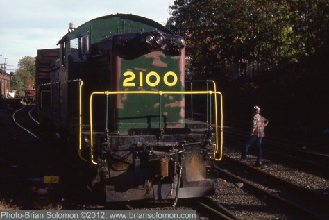 Rare Electro-Motive model NW5 at Palmer, Massachusetts.