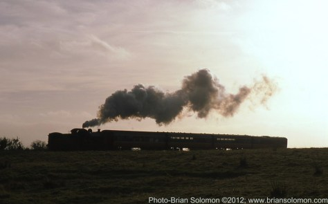 Railway Preservation Society Ireland 4-6-0 number 461 crosses the Curragh, County Kildare on November 6, 2012.