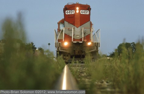 GP9 from rail level