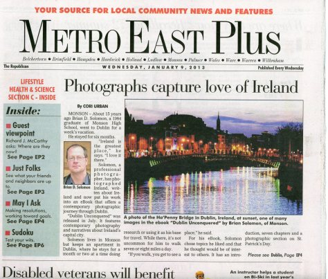 Today's (January 9, 2013) Metro East. See the Springfield Republican for full story and photos!