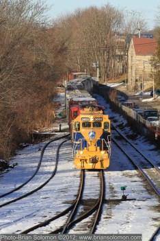 Railroad at Willimantic Connecticut