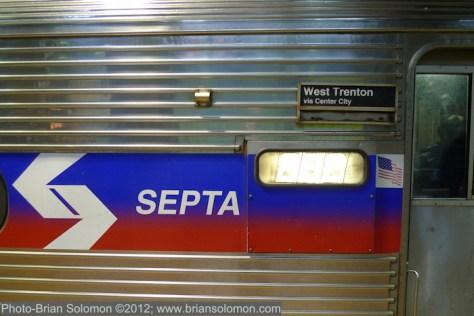 Detail of SEPTA Silverliner IV.
