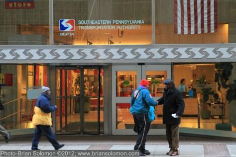 SEPTA's offices at Market Street, Philadelphia on January 2, 2013. Canon 7D w 28-135mm lens.
