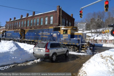 Railway locomotives at Stafford Springs, Connecticut.