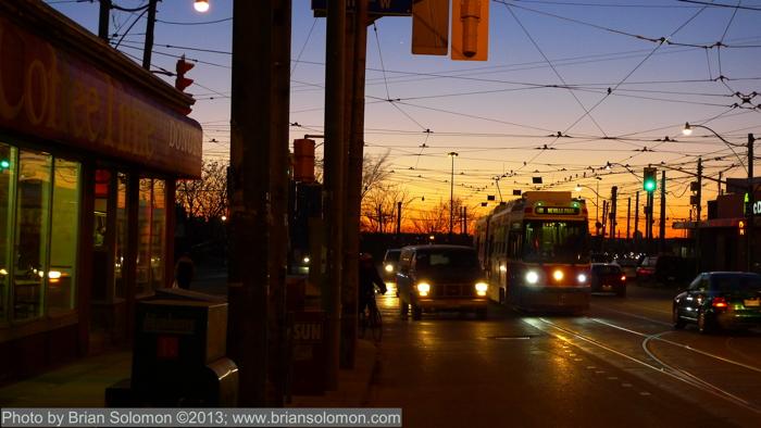 TTC Streetcar Toronto.