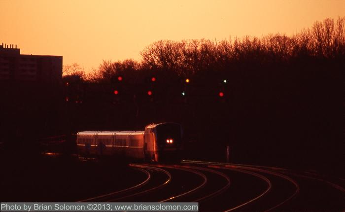 VIA Rail at sunset.
