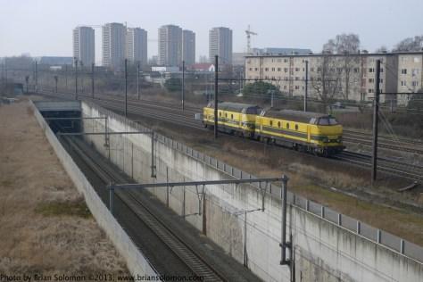 Railway junction near Antwerpen, Belgium.