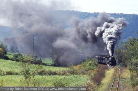 East Broad Top steam locomotive at work.