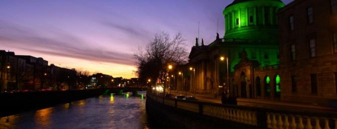 Dublin Lit for St. Patrick's Day.