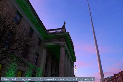 General Post Office on O'Connell Street with Spire.