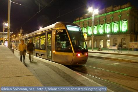 LUAS at Heuston Station.