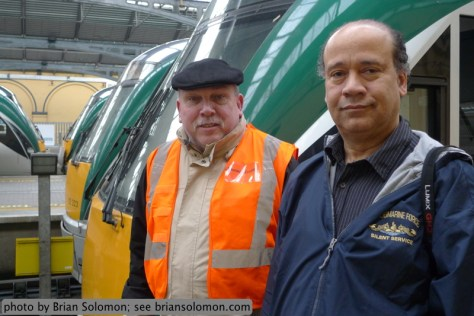 ish Rail's Tony Cooke and Amtrak's Douglas Kydd at Heuston Station with Intercity Rail Car 22311. Lumix LX-3 photo.