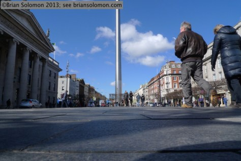 Spire and GPO on Dublin's O'Connell Street.
