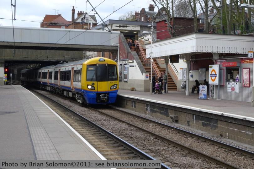 London Overground at Hamstead Heath