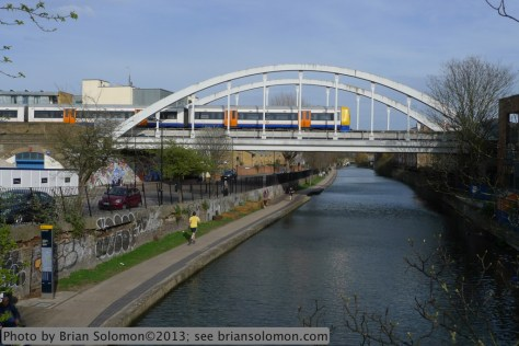 London Overground with canal.