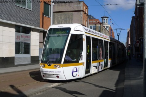 White Tram on Abbey Street.