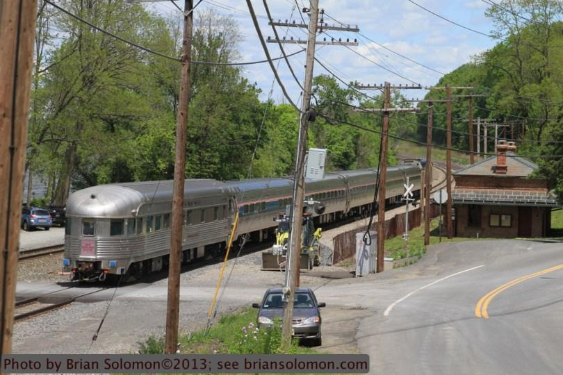 Observation car on Amtrak 281.