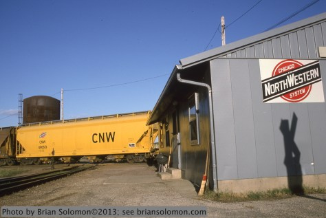 C&NW hoppers at Jefferson Jct Wis Apr 19 1995