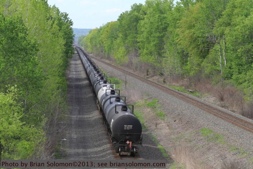 Empty ethanol train.