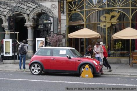 Mini Cooper on Dawson Street.
