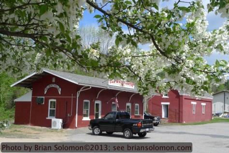 Albany station at Gilbertville, Massachusetts on May 13, 2013.