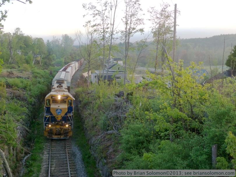 Train in Monson, Mass.