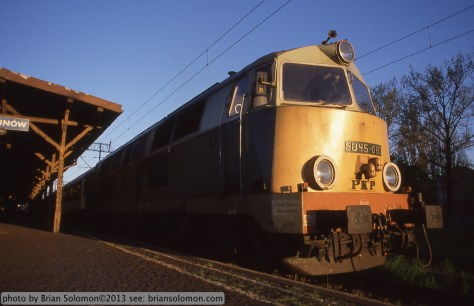 Polish diesel locomotive.