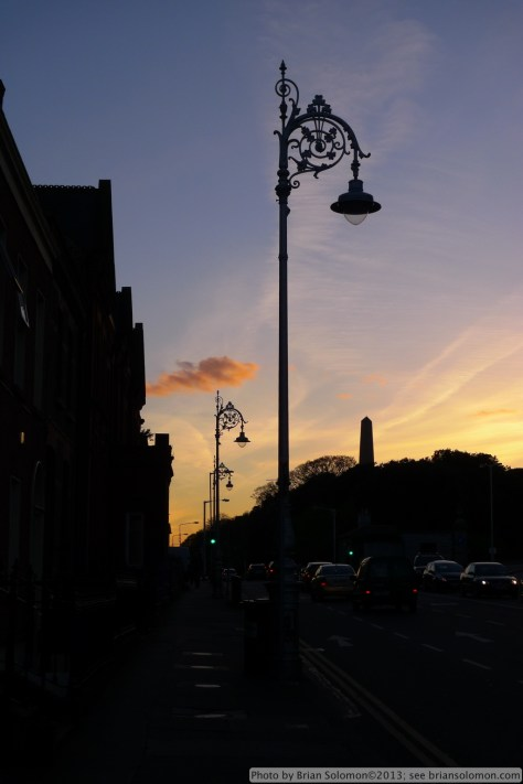 Sunset on Parkgate Street, Dublin